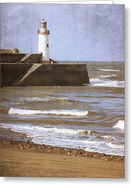 Lighthouse Greeting Card by Amanda Elwell