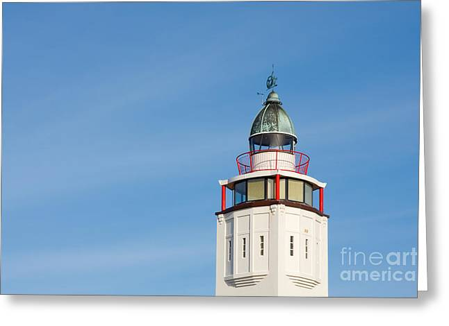 Lighthouse Harlingen Greeting Card by Jan Brons