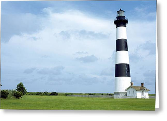 Lighthouse In A Field, Bodie Island Greeting Card by Panoramic Images