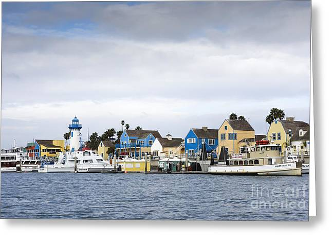 Lighthouse In Marina Del Rey Greeting Card