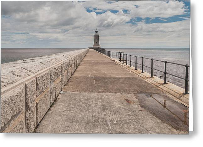 Lighthouse In North Shields Greeting Card by Sergey Simanovsky