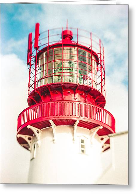 Lighthouse In The Sky Greeting Card by Mirra Photography