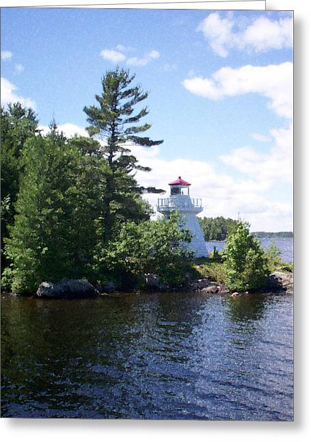 Lighthouse Island Greeting Card