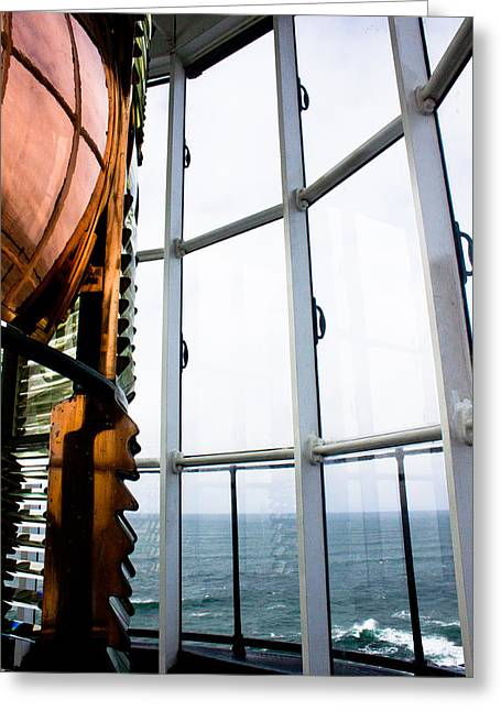 Lighthouse Lens Greeting Card by John Daly