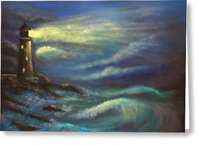 Lighthouse Lights Greeting Card