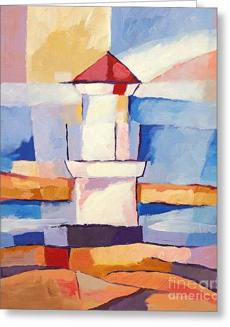 Lighthouse Greeting Card by Lutz Baar