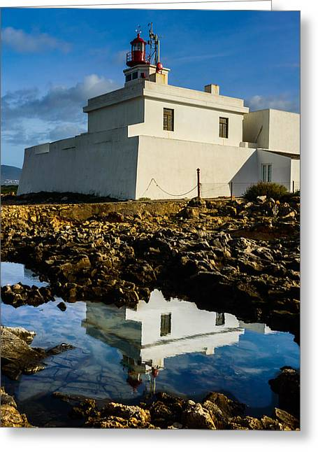 Lighthouse Greeting Card by Marco Oliveira