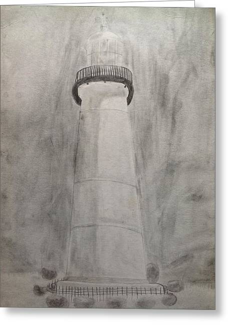 Lighthouse Greeting Card by Noah Burdett