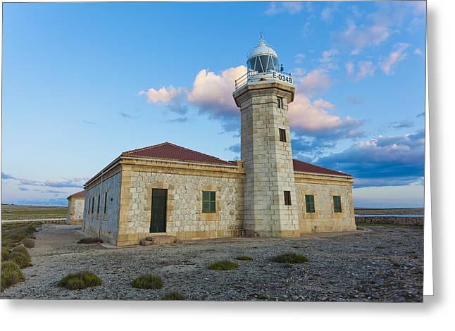 Lighthouse Of Punta Nati Greeting Card by Antonio Macias Marin