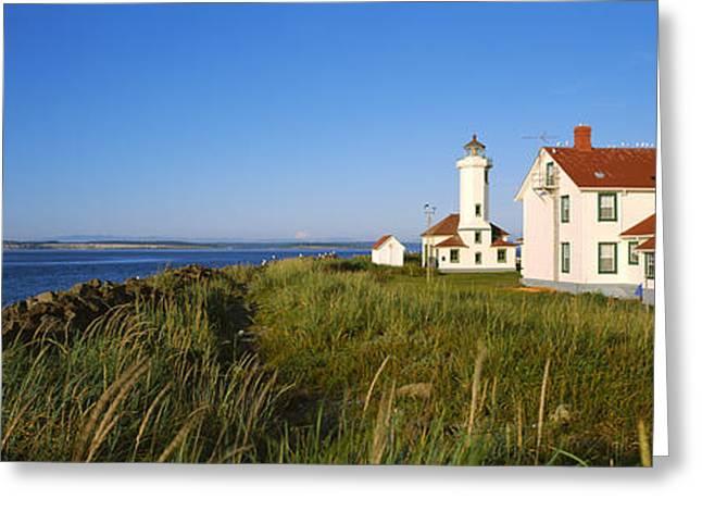 Lighthouse On A Landscape, Ft. Worden Greeting Card by Panoramic Images
