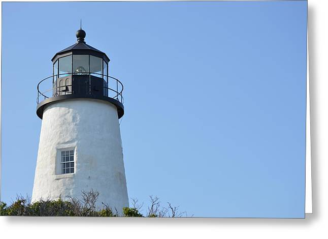 Lighthouse On Clear Day Greeting Card