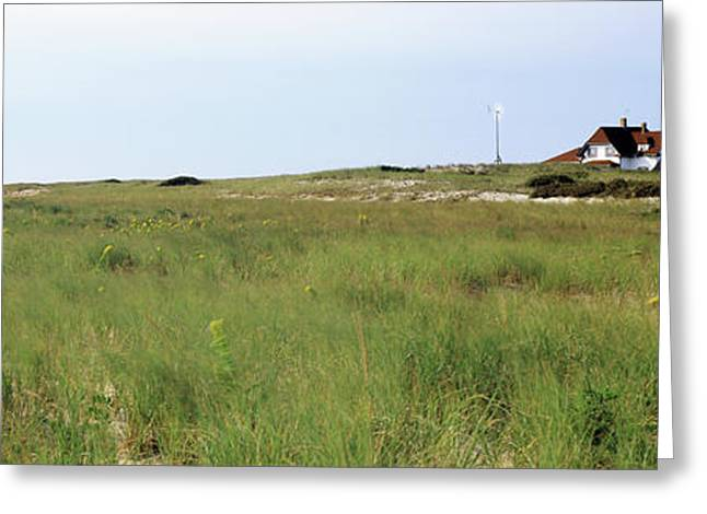 Lighthouse On The Beach, Race Point Greeting Card by Panoramic Images