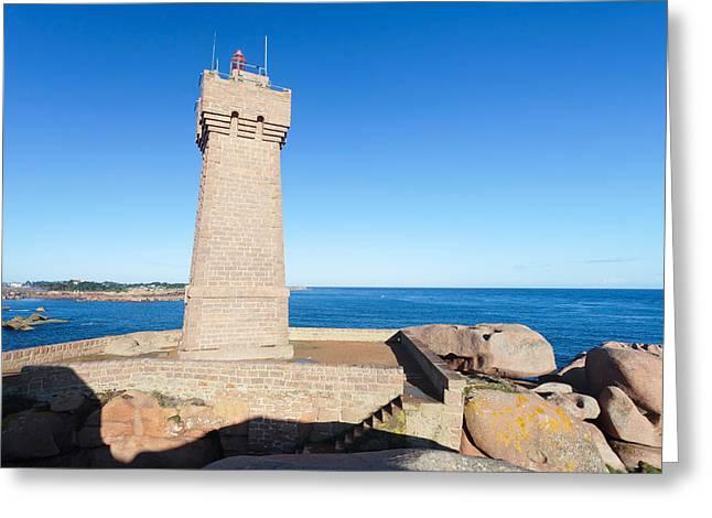 Lighthouse On The Coast, Leuchtturm Von Greeting Card