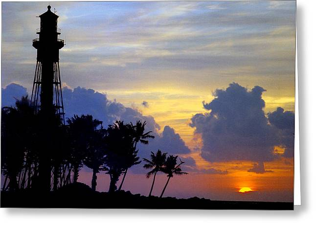 Lighthouse Point Sunrise 2 Greeting Card