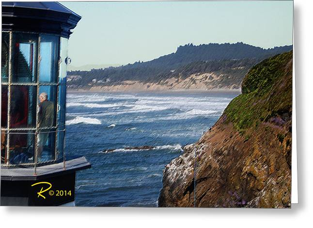 Lighthouse Greeting Card by Ralph Hartwig