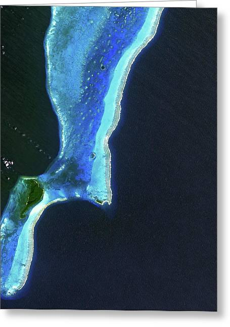 Lighthouse Reef And Belize Greeting Card by Jaxa, Esa