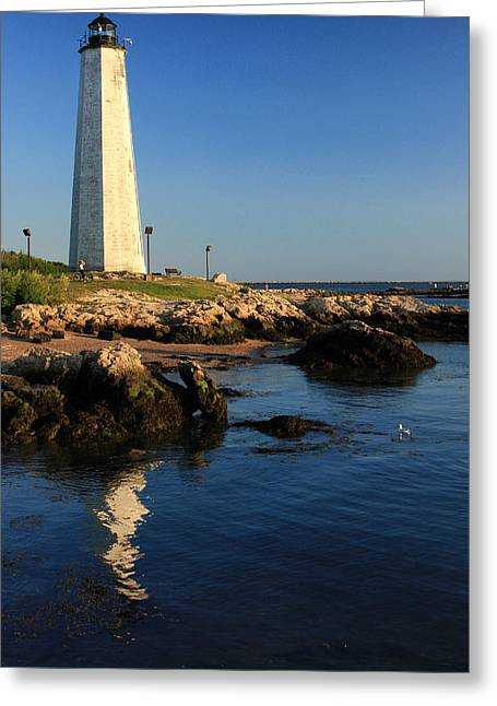 Lighthouse Reflected Greeting Card by Karol Livote