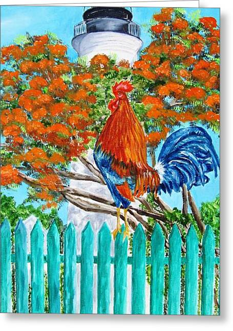 Lighthouse Rooster II Greeting Card