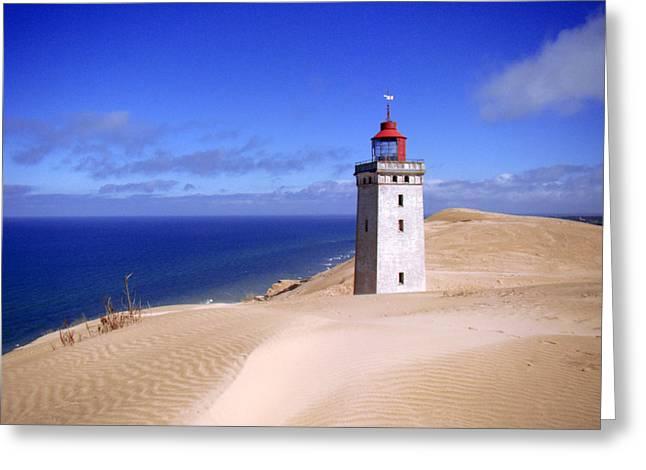 lighthouse Rubjerg Greeting Card by Giorgio Darrigo