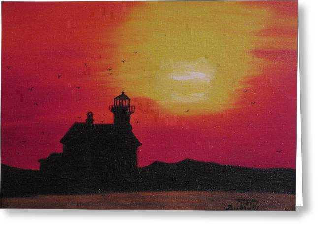 Lighthouse Silhouette Greeting Card