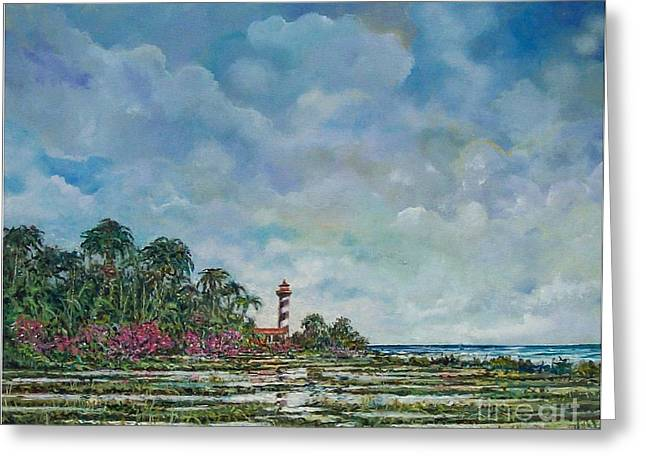 Lighthouse Greeting Card by Sinisa Saratlic