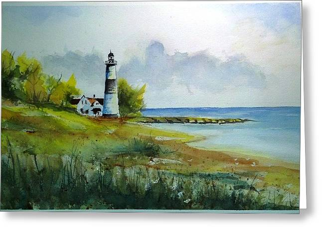 Lighthouse Sold Greeting Card by Richard Benson