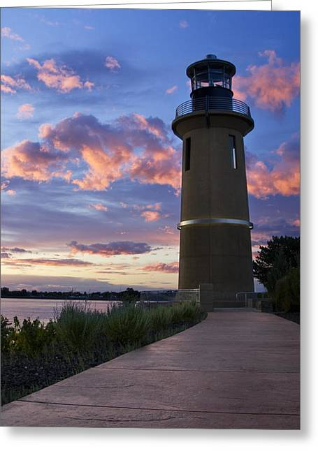 Greeting Card featuring the photograph Lighthouse by Sonya Lang