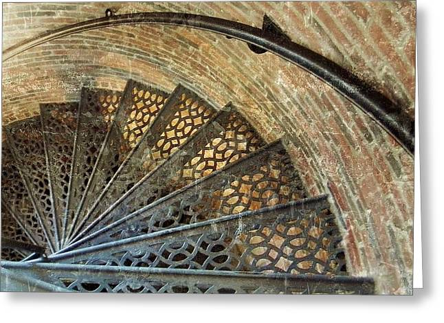 Lighthouse Spiral Staircase Greeting Card
