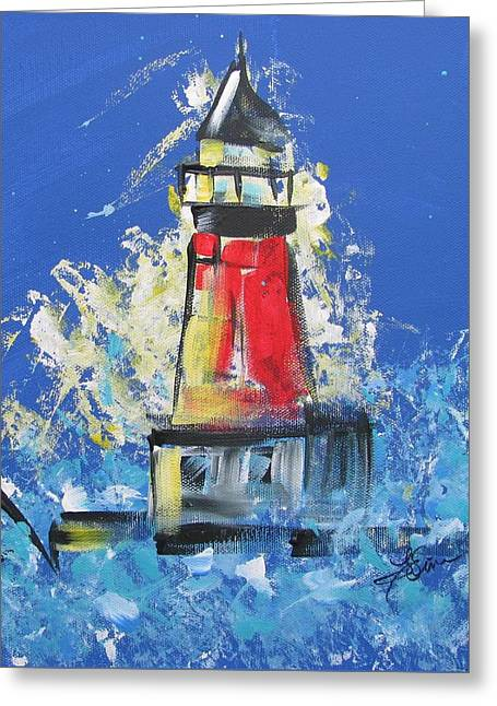 Lighthouse Splash Greeting Card