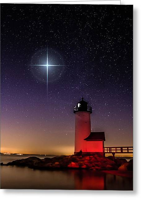 Greeting Card featuring the photograph Lighthouse Star To Wish On by Jeff Folger
