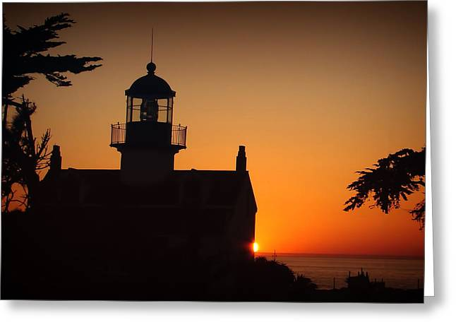 Lighthouse Greeting Card by Steve Benefiel
