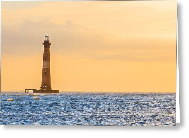 Lighthouse Sunrise Greeting Card