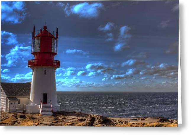 Lighthouse Greeting Card by Torbjorn Maesel