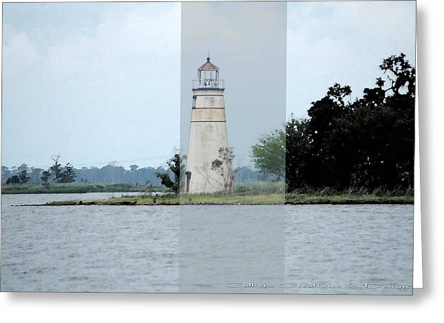 Lighthouse Greeting Card by Victoria Leyva