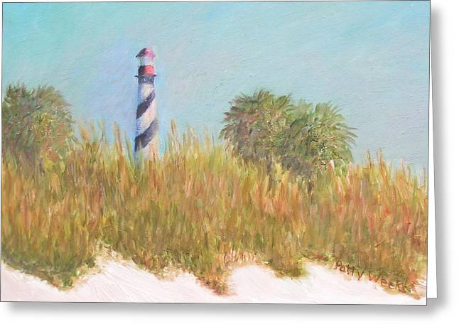 Lighthouse View From St. Augustine Beach Greeting Card