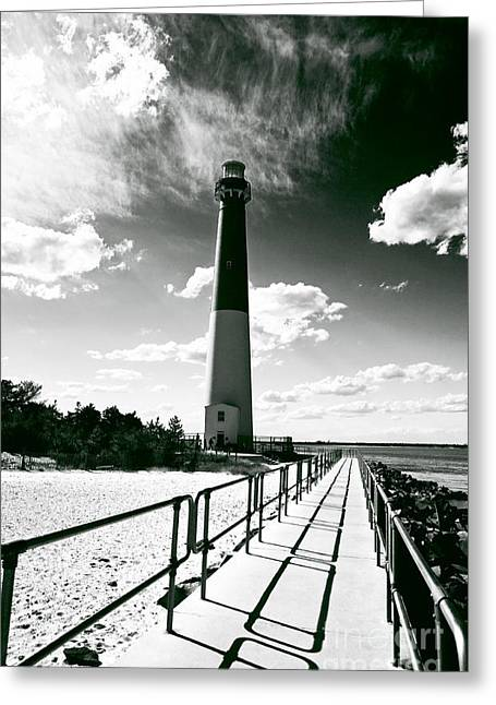 Lighthouse Walk Greeting Card by John Rizzuto
