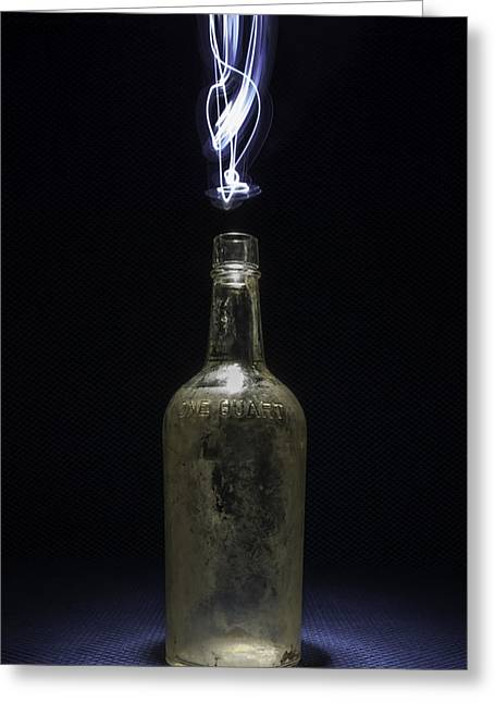 Greeting Card featuring the photograph Lighting By The Quart - Light Painting by Steven Milner