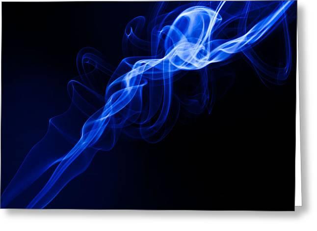 Lighting In Swirls Greeting Card by Peter Harris