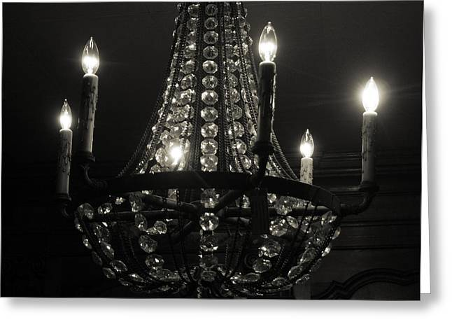 Lighting The Dark Greeting Card by Paulette Maffucci