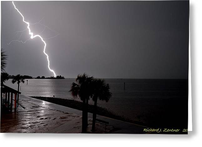 Greeting Card featuring the photograph Lightning 1 by Richard Zentner