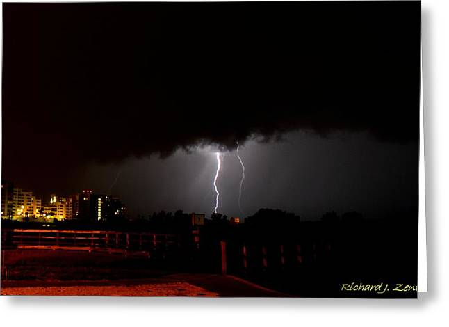 Greeting Card featuring the photograph Lightning 10 by Richard Zentner