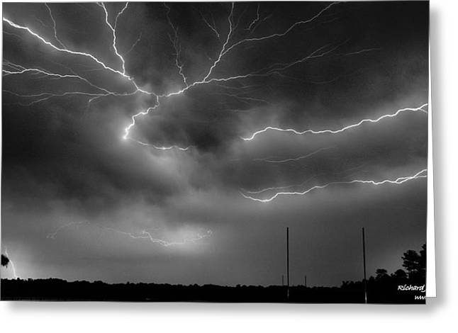 Greeting Card featuring the photograph Lightning 2 by Richard Zentner