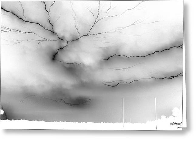 Greeting Card featuring the photograph Lightning 4 by Richard Zentner