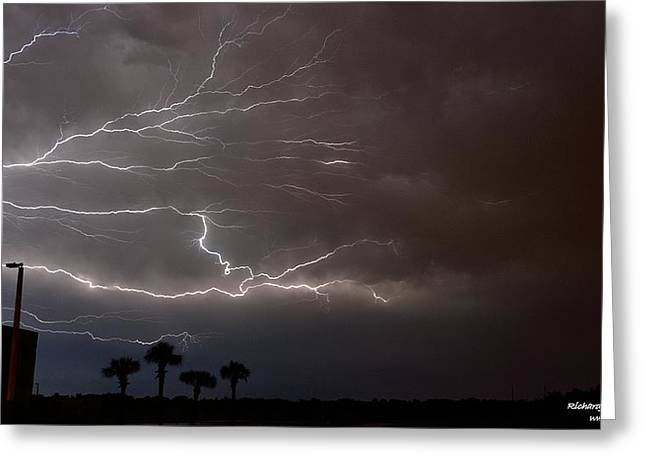 Greeting Card featuring the photograph Lightning 5 by Richard Zentner