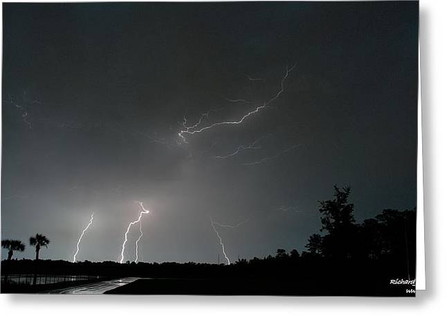 Greeting Card featuring the photograph Lightning 6 by Richard Zentner