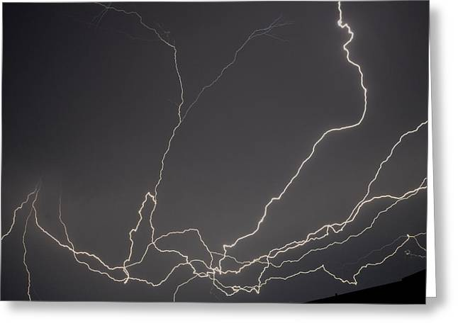 Lightning 6a Greeting Card by Maggy Marsh