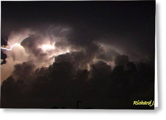 Greeting Card featuring the photograph Lightning 7 by Richard Zentner