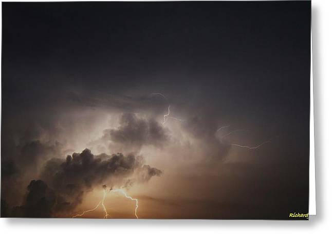 Greeting Card featuring the photograph Lightning 8 by Richard Zentner