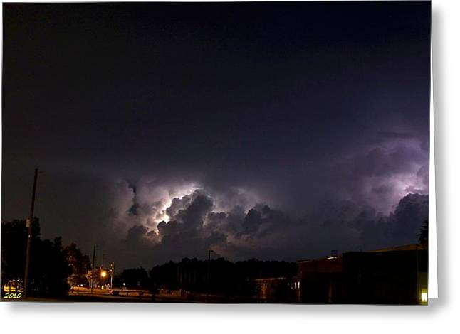Greeting Card featuring the photograph Lightning 9 by Richard Zentner
