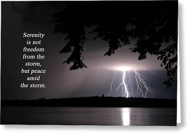 Lightning At Night - Inspirational Quote Greeting Card